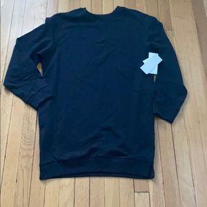 NWT ZELLA black tunic sweatshirt size M